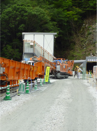 トンネル工事・ダム工事特殊建設機械一式リース・販売
